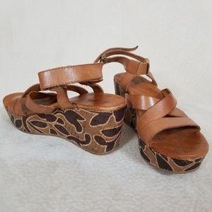 Anthro Naya wedge sandals